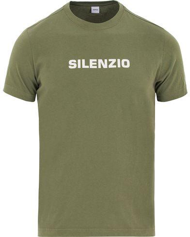 Aspesi Silenzio Crew Neck Tee Green i gruppen T-Shirts / Kortärmade t-shirts hos Care of Carl (13611211r)