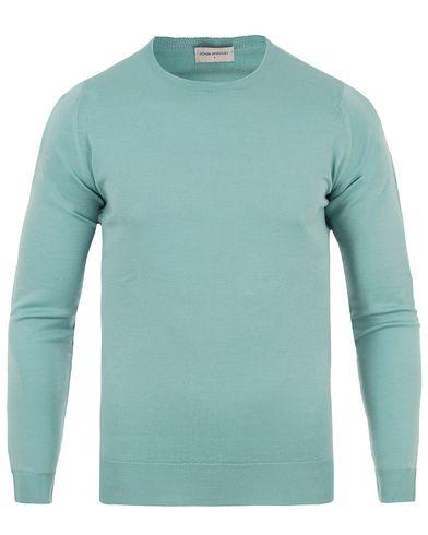 John Smedley Lundy Extra Fine Merino Crew Neck Terill Green i gruppen Kläder / Tröjor / Pullovers / Rundhalsade pullovers hos Care of Carl (13612911r)