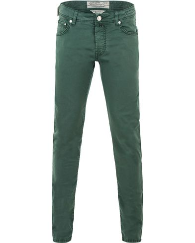 Jacob Cohen 622 5-Pocket Trousers Green i gruppen Byxor / 5-ficksbyxor hos Care of Carl (13614611r)