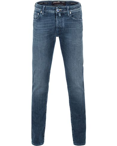Jacob Cohen 622 Washed Slim Jeans Mid Blue i gruppen Jeans / Smala jeans hos Care of Carl (13615511r)