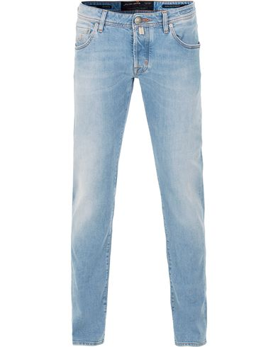Jacob Cohen 622 Washed Slim Jeans Light Blue i gruppen Design A / Jeans / Smala jeans hos Care of Carl (13615711r)
