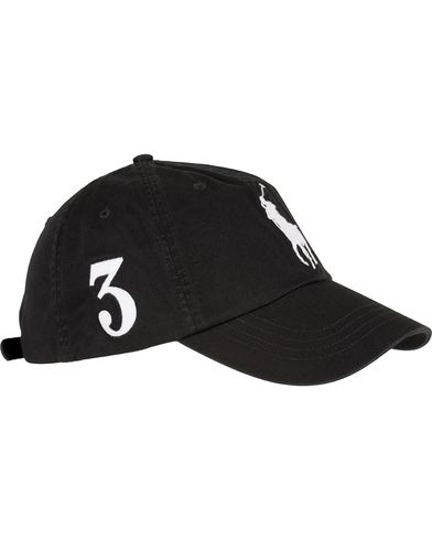 Polo Ralph Lauren Big Pony Cap Black  i gruppen Accessoarer / Kepsar / Basebollkepsar hos Care of Carl (13617510)