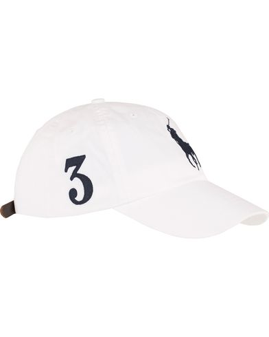 Polo Ralph Lauren Big Pony Cap White  i gruppen Accessoarer / Kepsar / Basebollkepsar hos Care of Carl (13617610)