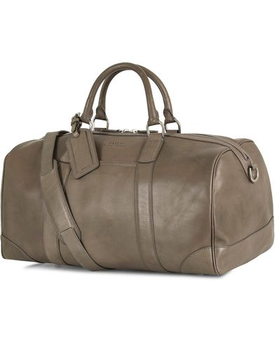 Polo Ralph Lauren Leather Weekendbag Grey  i gruppen Accessoarer / Väskor / Weekendbags hos Care of Carl (13618610)