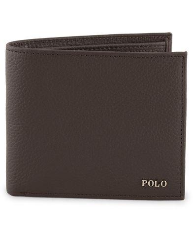 Polo Ralph Lauren Leather Wallet Brown  i gruppen Accessoarer / Plånböcker / Vanliga plånböcker hos Care of Carl (13619410)