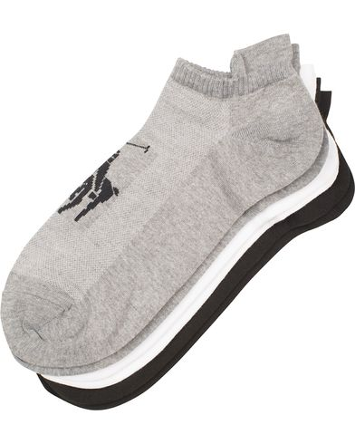 Polo Ralph Lauren 3-Pack Tech Pony Socks Grey/Black/White  i gruppen Kläder / Underkläder / Strumpor / Vanliga strumpor hos Care of Carl (13619610)