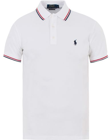 Polo Ralph Lauren Core Fit Twin Tip Polo White i gruppen Pikéer / Kortärmade pikéer hos Care of Carl (13621911r)