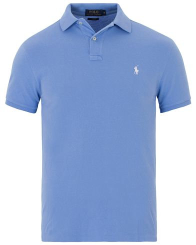 Polo Ralph Lauren Slim Fit Polo Harbour Island Blue i gruppen Kläder / Pikéer / Kortärmade pikéer hos Care of Carl (13624111r)