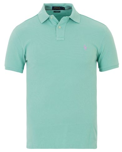 Polo Ralph Lauren Slim Fit Polo Bayside Green i gruppen Design A / Pikéer / Kortärmade pikéer hos Care of Carl (13624411r)
