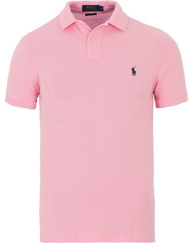 Polo Ralph Lauren Slim Fit Polo Carmel Pink i gruppen Kläder / Pikéer / Kortärmade pikéer hos Care of Carl (13624611r)
