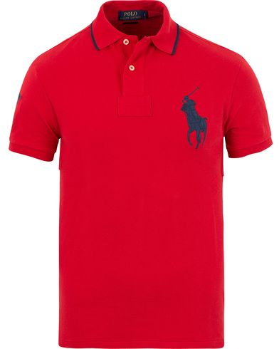 Polo Ralph Lauren Slim Fit Big Pony Polo Target Red i gruppen Kläder / Pikéer hos Care of Carl (13626611r)