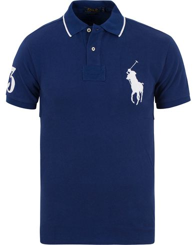 Polo Ralph Lauren Slim Fit Big Pony Polo Fall Royal i gruppen Kläder / Pikéer / Kortärmade pikéer hos Care of Carl (13626711r)