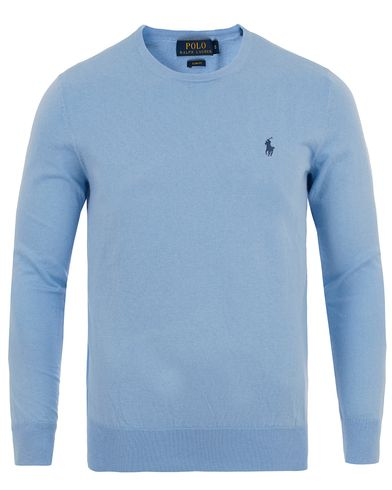 Polo Ralph Lauren Slim Fit Cotton Crew Neck Pullover Essex Blue i gruppen Tröjor / Pullovers / Rundhalsade pullovers hos Care of Carl (13628411r)