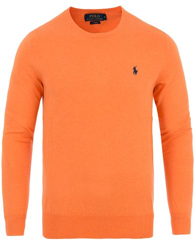Polo Ralph Lauren Slim Fit Cotton Crew Neck Pullover Beach Orange Heather i gruppen Kläder / Tröjor / Pullovers / Rundhalsade pullovers hos Care of Carl (13628511r)