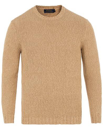 Polo Ralph Lauren Linen Knitted Crew Neck Sand i gruppen Design A / Tröjor / Stickade tröjor hos Care of Carl (13629611r)