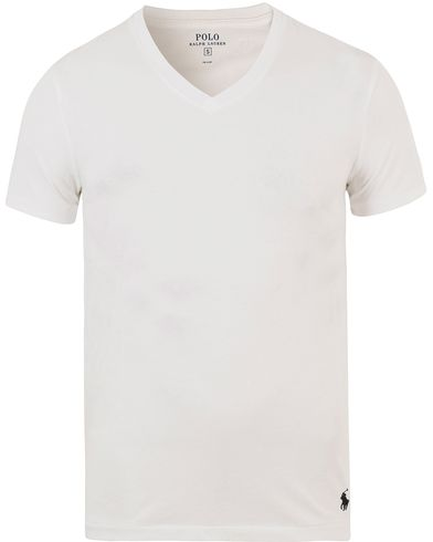 Polo Ralph Lauren V-Neck Tee White i gruppen Kläder / T-Shirts / Kortärmade t-shirts hos Care of Carl (13630611r)