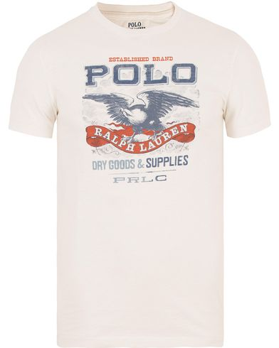 Polo Ralph Lauren Crew Neck Printed Tee Nevis White i gruppen Design A / T-Shirts / Kortärmade t-shirts hos Care of Carl (13630711r)