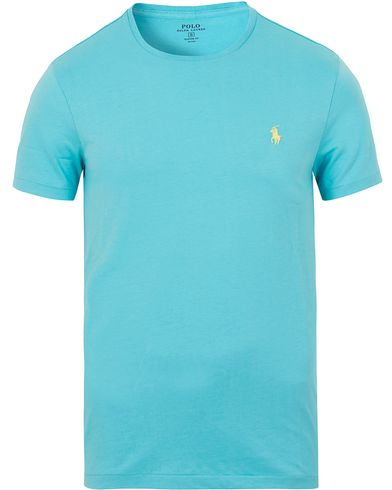 Polo Ralph Lauren Custom Fit Tee True Aqua i gruppen T-Shirts / Kortärmade t-shirts hos Care of Carl (13631711r)