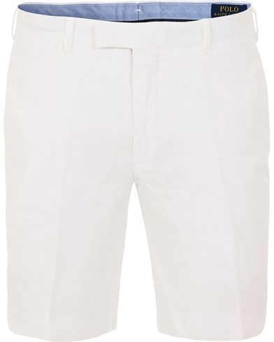 Polo Ralph Lauren Slim Linen Shorts White i gruppen Shorts / Chinosshorts hos Care of Carl (13635011r)