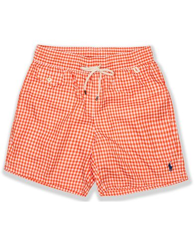Polo Ralph Lauren Traveler Gingham Swimtrunks Active Orange i gruppen Kläder / Badbyxor hos Care of Carl (13637711r)