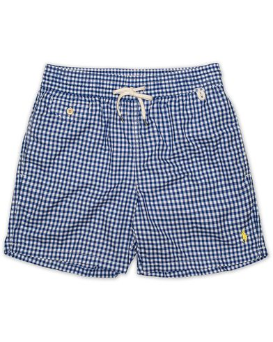 Polo Ralph Lauren Traveler Gingham Swimtrunks Pure Sapphire i gruppen Kläder / Badbyxor hos Care of Carl (13637811r)