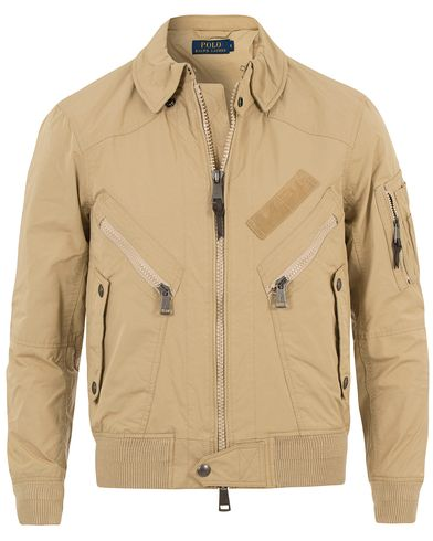 Polo Ralph Lauren Flight Bomber Jacket Hasselnut i gruppen Design A / Jackor / Bomberjackor hos Care of Carl (13638911r)