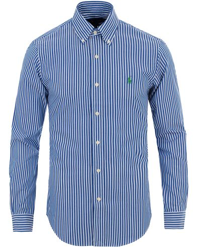 Polo Ralph Lauren Slim Fit Stretch Poplin Stripe Shirt Blue/White i gruppen Design A / Skjortor / Casual skjortor hos Care of Carl (13642211r)