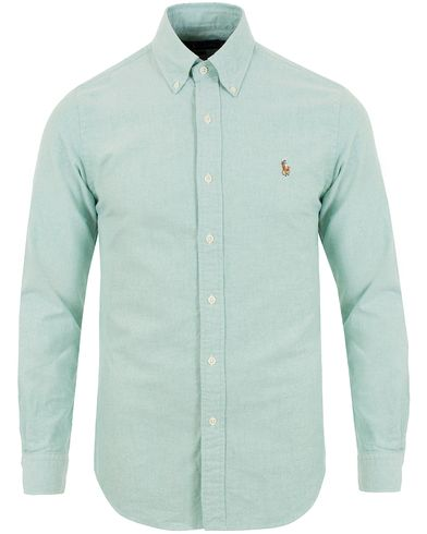 Polo Ralph Lauren Slim Fit Oxford Shirt Green i gruppen Design A / Skjortor / Oxfordskjortor hos Care of Carl (13642511r)