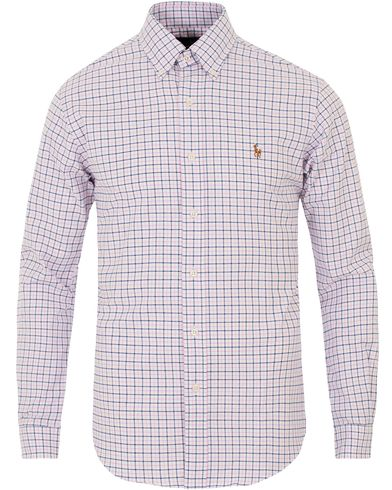 Polo Ralph Lauren Slim Fit Oxford Check Shirt Pink/White i gruppen Design A / Skjortor / Oxfordskjortor hos Care of Carl (13642711r)