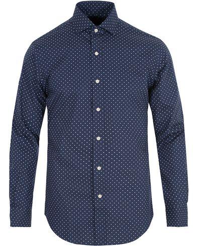 Polo Ralph Lauren Slim Fit Dot Shirt Spring Blue i gruppen Skjortor / Casual skjortor hos Care of Carl (13643311r)