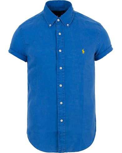 Polo Ralph Lauren Slim Fit Short Sleeve Linen Shirt Blue Reef i gruppen Kläder / Skjortor / Kortärmade skjortor hos Care of Carl (13645411r)
