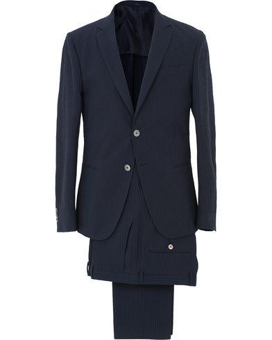 BOSS Nivan/Benno Seersucker Suit Dark Blue i gruppen Design A / Kostymer hos Care of Carl (13648711r)