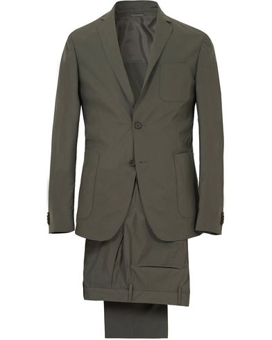 BOSS Nastven/Barns Tumbled Cotton Suit Dark Green i gruppen Kostymer hos Care of Carl (13648811r)