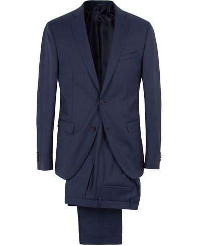 BOSS Reyno/Wave Wool Suit Dark Blue i gruppen Kläder / Kostymer hos Care of Carl (13649011r)