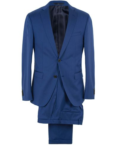 BOSS Reyno/Wave Wool Suit Napoli Blue i gruppen Kostymer hos Care of Carl (13649111r)