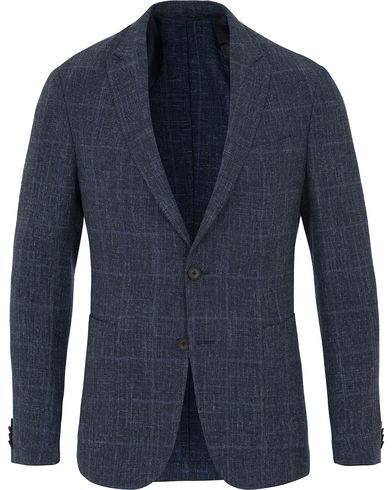 BOSS Nold Wool Blend Structured Blazer Medium Blue i gruppen Kläder / Kavajer hos Care of Carl (13649311r)