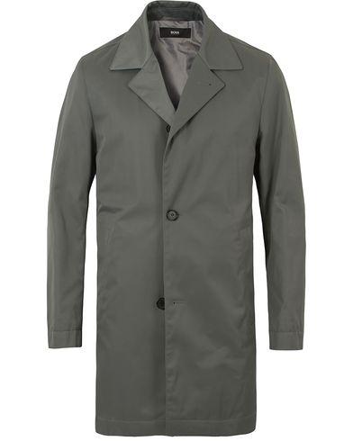 BOSS Dais Water Repellent Coat Green i gruppen Design A / Jackor / Rockar hos Care of Carl (13649511r)