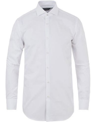 BOSS Jerrin Slim Fit Contrast Shirt White i gruppen Skjortor / Formella skjortor hos Care of Carl (13649911r)