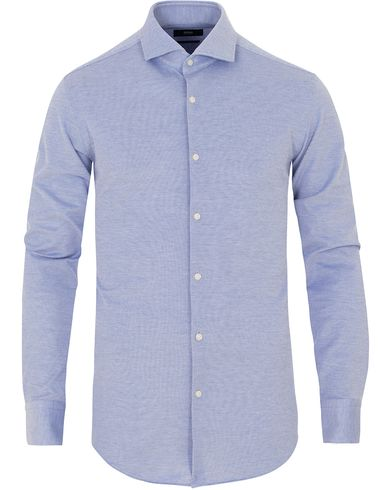 BOSS Jason Slim Fit Jersey Shirt Blue i gruppen Kläder / Skjortor / Formella skjortor hos Care of Carl (13650011r)
