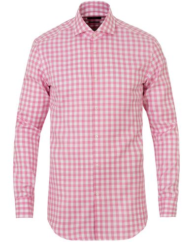 BOSS Jason Slim Fit Check Shirt Pink i gruppen Kläder / Skjortor / Casual skjortor hos Care of Carl (13650111r)