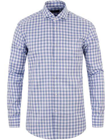 BOSS Jason Slim Fit Check Shirt Blue i gruppen Skjortor / Casual skjortor hos Care of Carl (13650211r)