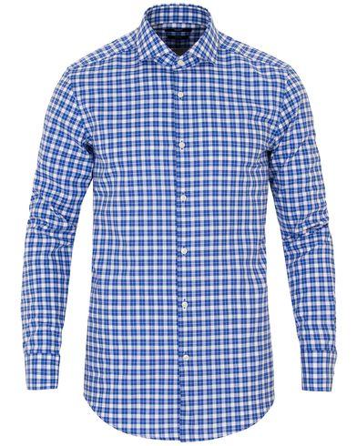 BOSS Jason Slim Fit Check Shirt Blue i gruppen Design A / Skjortor / Casual skjortor hos Care of Carl (13650311r)