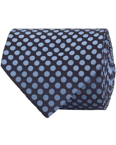 BOSS Silk Dot Tie 7,5 cm Dark Blue  i gruppen Accessoarer / Slipsar hos Care of Carl (13650510)