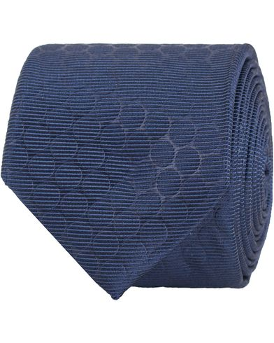 BOSS Tonal Dot Tie 6 cm Blue  i gruppen Design A / Accessoarer / Slipsar hos Care of Carl (13650810)