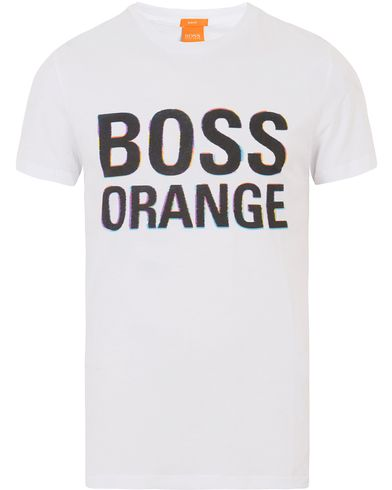 Boss Orange Tacket 5 Logo Tee White i gruppen T-Shirts / Kortärmade t-shirts hos Care of Carl (13652711r)