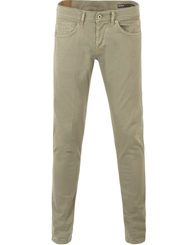 Dondup George Gaberdine 5-Pocket Army Green i gruppen Kläder / Byxor / 5-ficksbyxor hos Care of Carl (13654311r)
