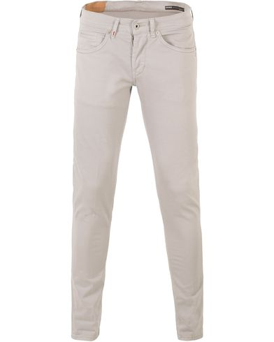 Dondup George Gaberdine 5-Pocket Light Grey i gruppen Kläder / Byxor / 5-ficksbyxor hos Care of Carl (13654511r)