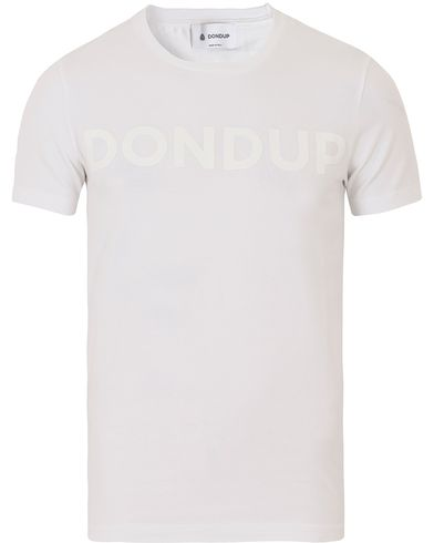 Dondup Logo Tee White i gruppen T-Shirts / Kortärmade t-shirts hos Care of Carl (13656011r)