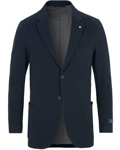 Gant Weekender Fit Cotton Pique Blazer Navy i gruppen Kavajer / Enkelknäppta kavajer hos Care of Carl (13671711r)