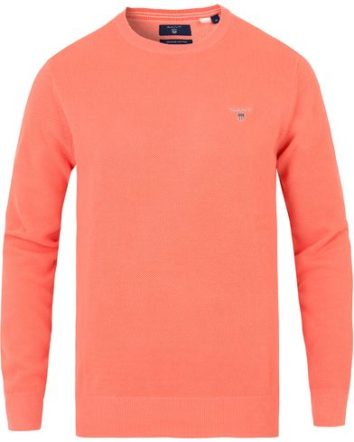 Gant Cotton Pique Crew Neck Shell Pink i gruppen Tröjor / Stickade tröjor hos Care of Carl (13673711r)